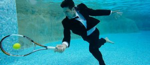 Nokac Djokovic is tennis world no 1 and could win even if he played underwater
