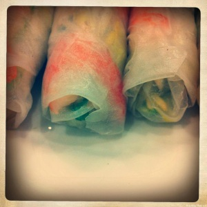 rice paper rolls filled with vegetables are not enough to fill you up if your a guy