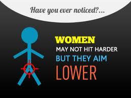 girls hit below the belt