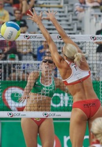Olympic volleyball girls team wearing not much of a uniform