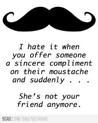 girls can have a moustache too