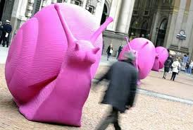 A girl would have made this and called it Pink Snail Art